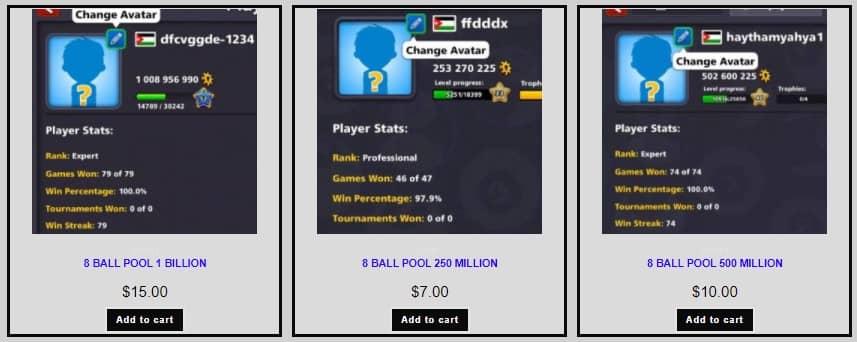 8 ball pool coins & cash