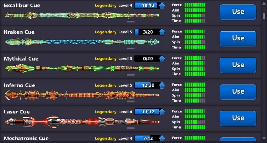 legendary cue